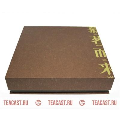 Подарочная упаковка под пуэр #330063 (коричневая коробка Муй Минь) - фото 6093
