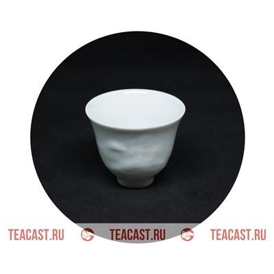 Пиала белая фарфор c узором #130081 - фото 6290