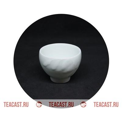 Пиала белая фарфор с узором #130082 - фото 6293