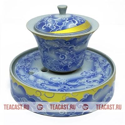 Гайвань из фарфора с чайным прудом в комплекте #150027 - фото 6655