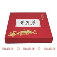 Подарочная упаковка под пуэр красная #330060