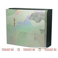 Подарочная упаковка бирюзовая (коробка с двумя банками) #330062