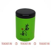 Банка жестяная для чая зеленая #330064 (цилиндр)